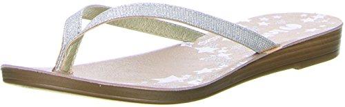 inblu Damen Zehentrenner Silber, Größe:37, Farbe:Silber