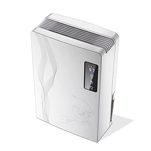fgfg Mini deumidificatore Elettrico, asciugatrice per l'aria, con Display a LED e Funzione di sbrinamento Automatico, Serbatoio dell'Acqua 2.2L, per seminterrato o Camera più Piccola
