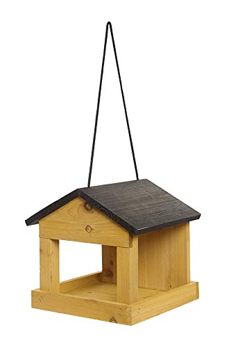 Hanging Wooden Wild Bird Table Seed Feeding Tray