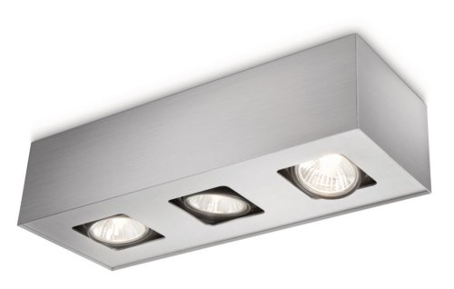 Philips My Living Tempo Plafondlamp, 3 x 50 W, 220 V, grijs