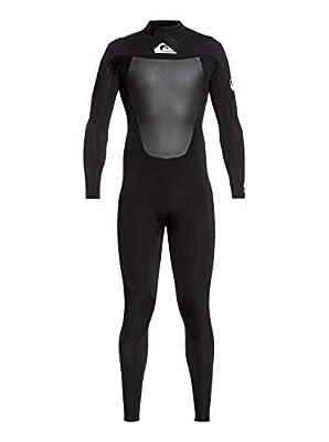 Quiksilver Mens 3/2Mm Syncro - Back Zip GBS Wetsuit for Men Back Zip GBS Wetsuit Black Xls