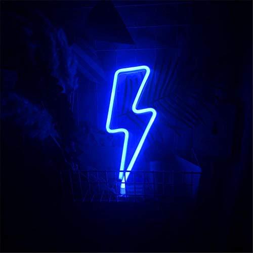 Leuchtschilder LED Blitz Neonlicht Neonschild Wandlichter, Batterie Oder USB Betrieben Licht Dekoration Für Zuhause, Kinderzimmer, Bar, Party, Weihnachten