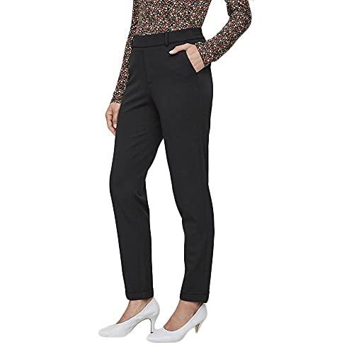 Vero Moda Vmmaya Mr Loose Solid Pant Noos Pantalones, Negro (Black Black), 38/ L30 (Talla del Fabricante: Medium) para Mujer