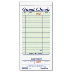 MOT3 - Guest Check Book, 3 3/8 x 6 1/2, Tear-Off at Bottom, 50/Book