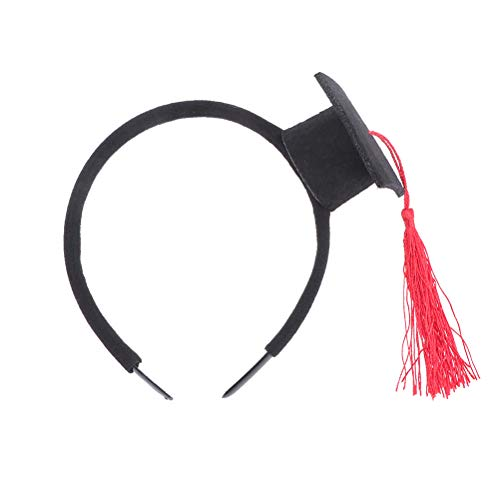Amosfun 2 Stücke Graduation Cap Stirnband Mini Promo Hut Kopfschmuck kreative Bachelor Master Graduation Party Kopfschmuck favorisiert