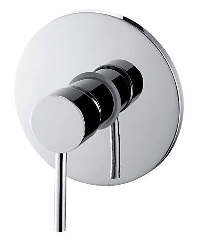GRIFERIAS BORRÁS - SERIE MIL - Grifo Monomando empotrar para ducha MIL03409C, Cromo - Instalación Baño