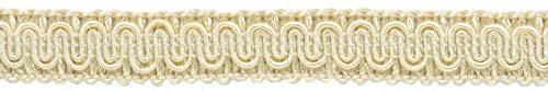DÉCOPRO 11 Meters of 16mm Basic Trim Decorative Gimp Braid, Style# 0058SG Color: Ivory/Ecru - A2, (36 Ft / 12 Yards)