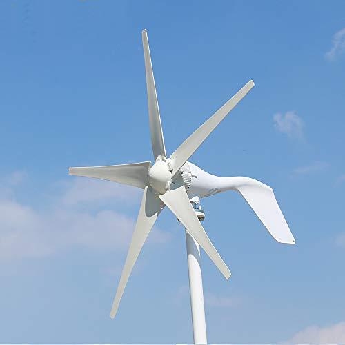 600 W, 500 W, 400 W, turbina eólica, generador Kit 12 V, 24 V, 48 V para carga doméstica marina farolas de jardín 5/6 aspas con controlador de carga MPPT (12 V, 400 W / 5 palas)