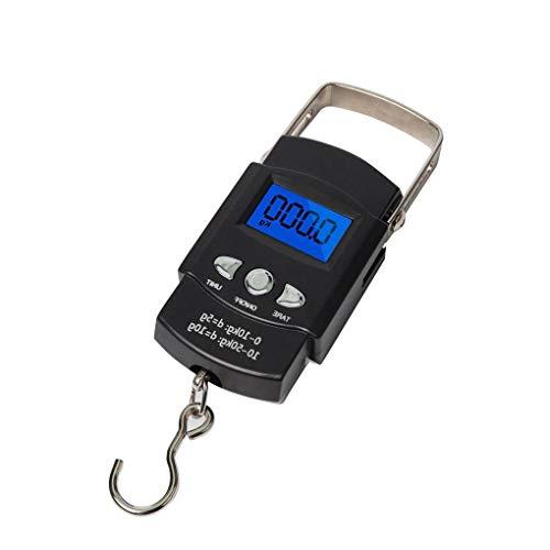 F-blue 50 kg de Mano Portable Colgante Digital Escala Maleta balanza de Equipaje Bolsa de Viaje electrónico del Equipaje de la Escala de Pescados Gancho Equilibrio