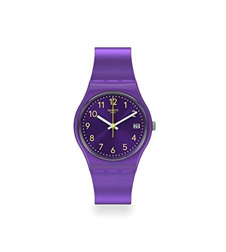 Swatch Reloj Analógico para Mujer de Cuarzo con Correa en Silicona GV402