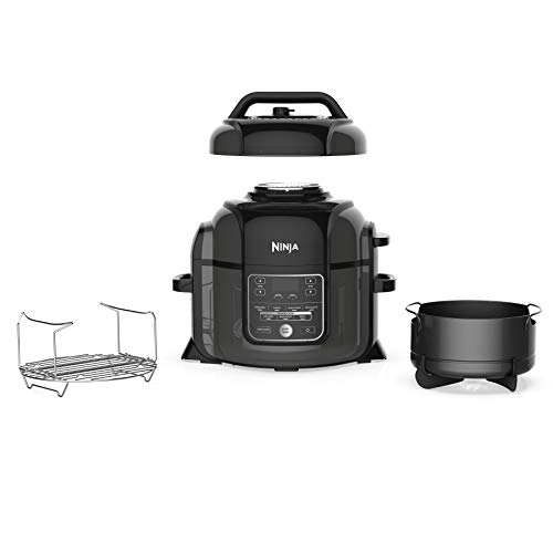 Ninja Foodi 1400-Watt Multi Pressure Cooker, Steamer & Air Fryer w/TenderCrisp Technology Pressure & Crisping Lid, 6.5 quart, Black/Gray