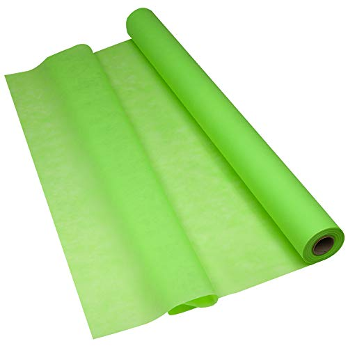 Sensalux Light Tischdeckenrolle, Oeko-TEX ® 100 - Made in Germany - 25m lang (Farbe nach Wahl), apfelgrün, 1,10m x 25m, stoffähnliches Vlies, ideal für Jede Party, Vereinsfeier, Geburtstagsfeier