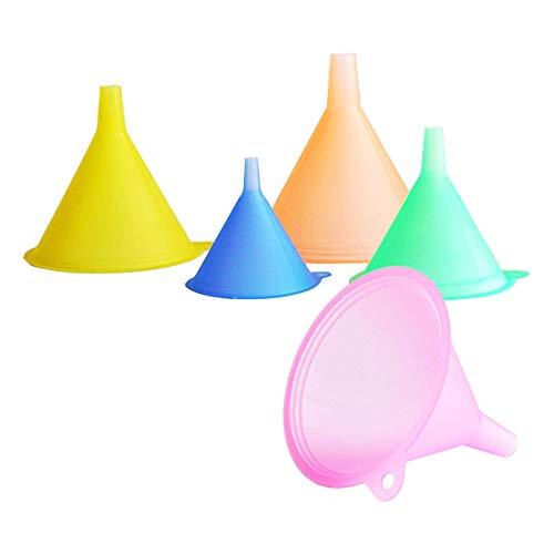 Trichter-Set für die Küche, 5-teilig, verschiedene Farben