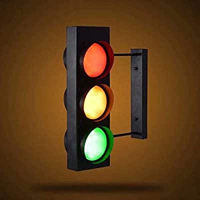 """Wall Sconces, Traffic Light Wall Light Retro Industrial Wall Lamp with Remote Control 6 Light 18.5""""H (Bulb Included)"""