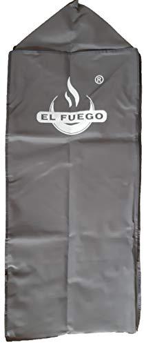 G. Abdeckhaube für Grill Portland XL von EL Fuego®, Schutz vor UV-Strahlung, wasserabweisend, Winterfest, Farbe Anthrazit