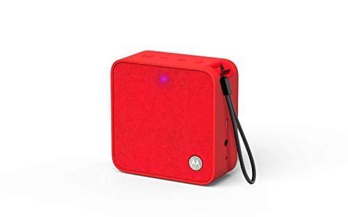 Motorola Lifestyle Sonic Boost210 - Wireless Bluetooth Lautsprecher - 3,5mm AUX, für Smartphone/Tablet/MP3 geräten - Mikrofon für Anrufe/Amazon Alexa/Siri/Google Assistant - Rot