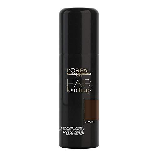 L'Oréal Professionnel Paris Hair Touch Up, Spray professionale per ritocco colore di capelli e radici, Castano - 75 ml