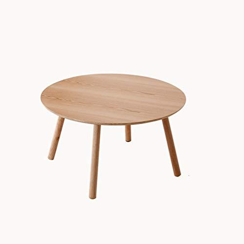 ZHANYI salontafel, eettafel, bijzettafel, bank eindtafel, houten tafel, massief houten paneel, glad oppervlak, kantoor/woonkamer