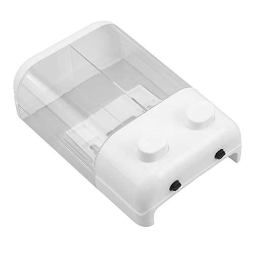 Yinew Dispenser Pump Bottle, Wall Mount Plastic Lotion Shampoo Dishwashing Organizer for Bathroom Kitchen, Double Head
