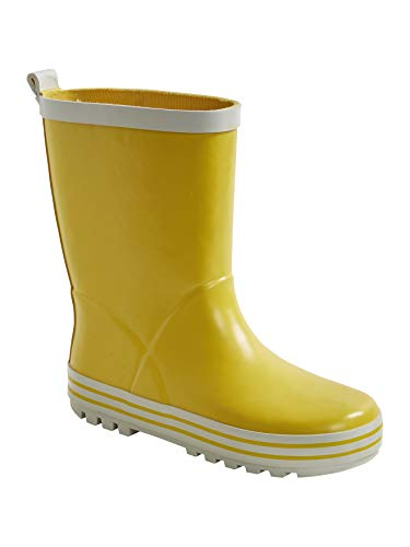 Vertbaudet Unifarbene Gummistiefel für Mädchen gelb 27