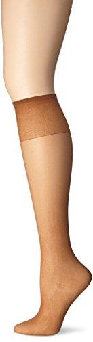 Just My Size Women's Knee High Panty Hose, Suntan, One Size