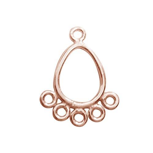 Pendiente de lámpara de araña de oro rosa con forma de pera...