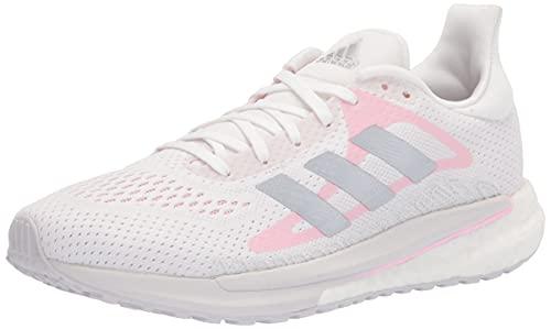adidas Women's Solar Glide Running Shoes, White/Silver Metallic/Fresh Candy, 10.5