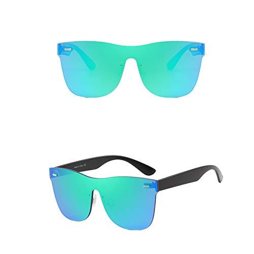 Infinity Fashion - Gafas de sol de colores para mujer, hombre y mujer, color azul