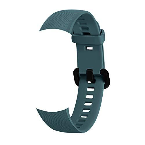 Romacci Pulseira de sílica gel de reposição para pulseira Smartwatch Acessórios de pulseira de pulseira de relógio feminino masculino. Compatível com pulseira de honra 5