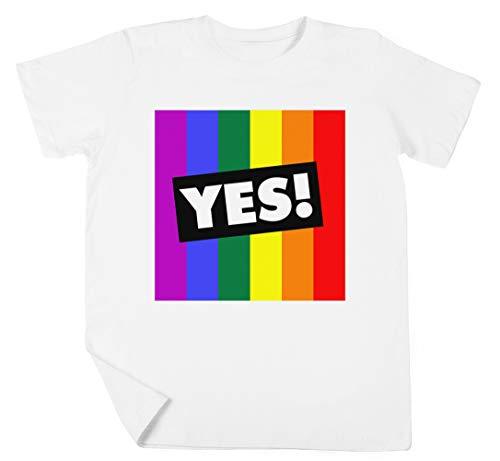 Ja! Zu Australisch Ehe Gleichberechtigung Jungen Mädchen Unisex Kinder Weiß T-Shirt Kurzarm Kids White T-Shirt