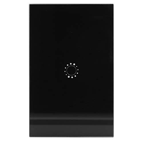 idalinya Interruptor de luz de Pared, Funciones de Temporizador de Soporte Interruptor de Control de Voz, Interruptor Inteligente(Black Cover 1 Road (2031006))