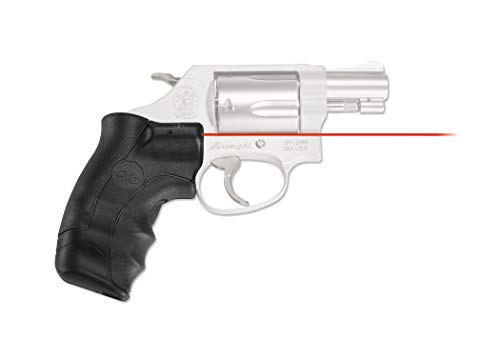 Crimson Trace LG-350 Lasergrips with Red Laser, Heavy Duty Construction and Instinctive Activation for Smith & Wesson, J-Frame Round Butt, Defensive Shooting and Competition