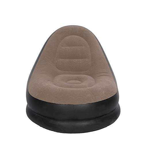 Wsaman Velour Bodensessel Klassisch Meditationsstuhl Faltbar, Aufblasbare wasserdichte Faul Sofa mit Umweltfreundliches PVC-Material Beflockte für Kinder & Erwachsene
