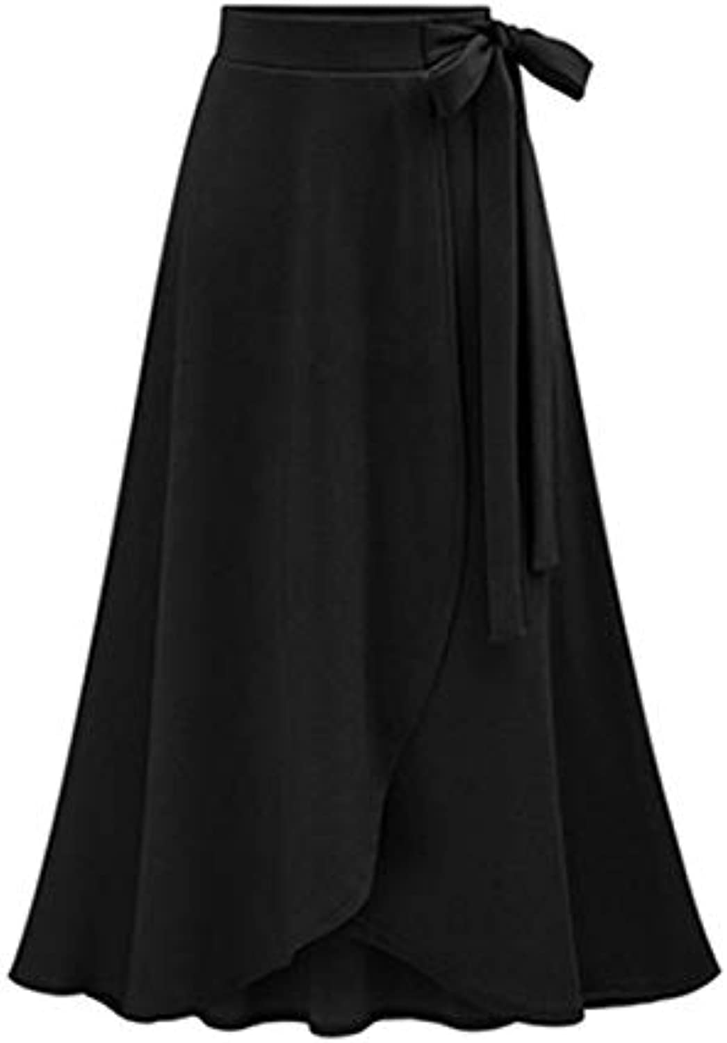YKDDCC High-end short skirt Plus Size 6xl Women Skirts Oversize Bow Ruffles Vintage High Waist Gown Pleated Cotton Mid Ladies Skirts Beautiful And Comfortable Skirts Make You Look More Beautiful