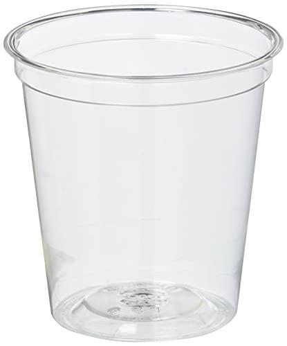 ストリックスデザイン 透明プラカップ 日本製 100個 クリア 3オンス 約90ml 使い捨てコップ デザート 試飲用 試食用 業務用 プラスチックコップ 小さめ DR-474 口径5.7×高さ5.8cm