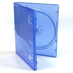 10 cajas de repuesto para juegos de PlayStation 4, azul trasparente, se venden por 10 unidades