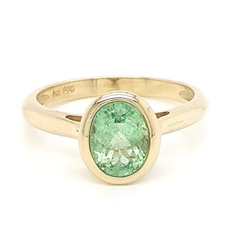 Sogni d´oro Facettenreich Ring aus 585 Gelbgold mit Paraiba Turmalin Ringgröße 57 (18.1)