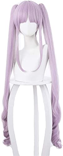HTDYLHH Re: Buceo (HIKAWA KY  KA) Cosplay Anime Wig, Pelo Corto de Onda rizada, Peluca sintética púrpura, para Fiesta Disfraz de Mujer 100 cm / 39.4'