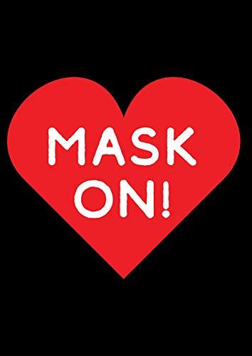 Toland Home Garden 1112516 Mask On Heart 12.5 x 18 Inch Decorative, Garden Flag