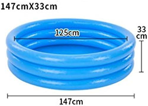 Badewanne Aufblasbares Pool der Kinder Baby-Marinekugel-Pool-Baby-Spielzeug-Pool Mehrfarbenumweltschutz-Materialien, zum des Marineballs zu senden Rollsnownow (Größe   Blau14733cm)