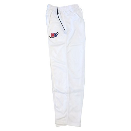 CE Cricket Whites Pants - Traditional Cricket Trousers - by Cricket Equipment USA (Pants, Medium)