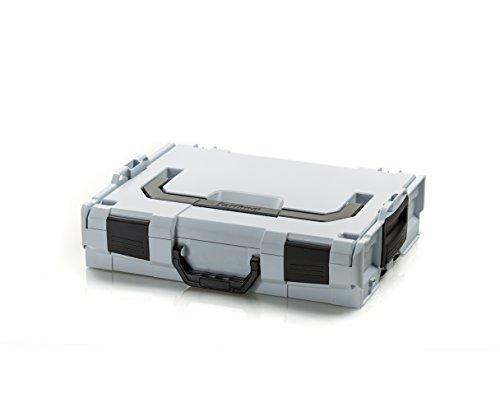 Bosch Sortimo L BOXX 102 | Größe 1 grau | Werkzeugkoffer leer klein | Professioneller Werkzeugkasten leer Kunststoff | Ideales Ordnungssystem