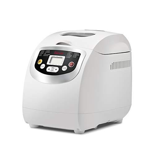 Girmi MP20 600 W broodbakmachine, wit, 1 kg, Franse cake van deeg, deeg, brood, glutenvrij, deeg voor pizza, brood van tarwe, 500 g, 15 h, aanraking)