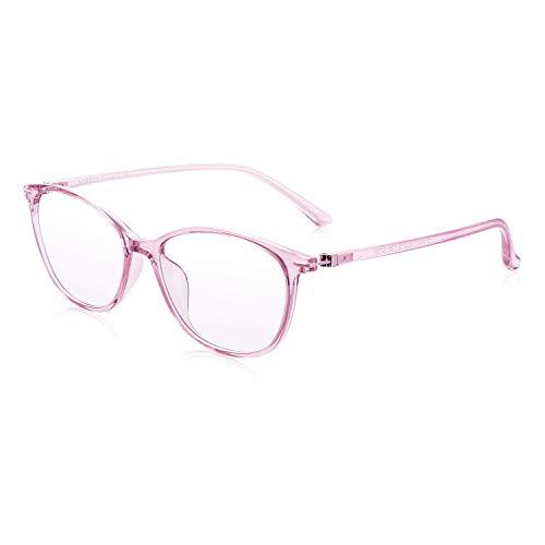 PORPEE Gafas Luz Azul, Gafas de Ordenador, Gafas uv, Protección para Pantalla/Móvil/Tablet/TV, Evita la Fatiga Ocular, Lentes Transparentes Unisexo para Hombres y Mujeres