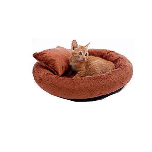 Push Pet Bed Ronde Nest Slapen Kussens Voor Katten En Honden, Warm Kennel Zachte Comfortabele Puppy Bank, Anti-Slip Bodem, Machine Wasbaar S BRON