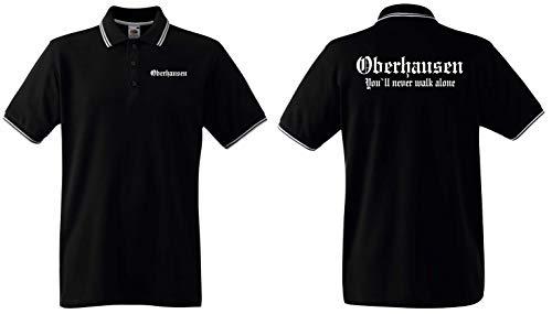 World of Shirt Herren Polo-Retro Shirt Oberhausen Ultras