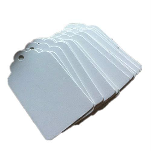 100 piezas Etiquetas de regalo de papel kraft con Etiquetas de regalo de papel premium blanco para…
