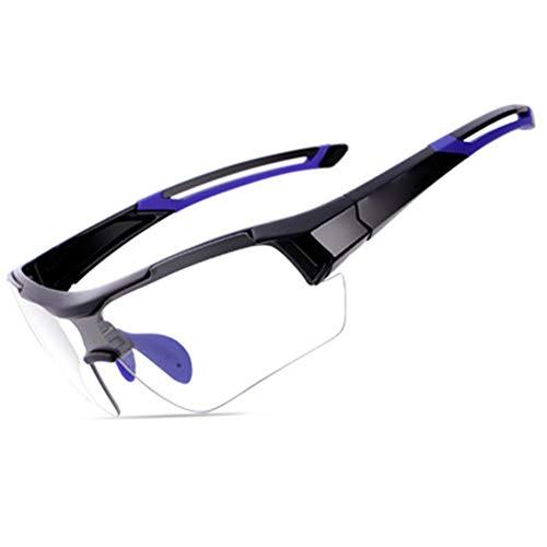 Gafas Ciclismo Fotocromaticas Hombre y Mujer, Gafas Mtb A Prueba de Viento Protección UV400 Gafas De Sol Polarizada,Decoloración Inteligente Gafas de Seguridad para Ciclismo Pesca Bicicleta