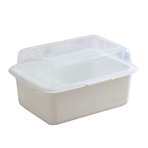 N / A Caja de Almacenamiento de plástico para Cubiertos con Tapa, Organizador de cajones de Cubiertos y Utensilios de Cocina,