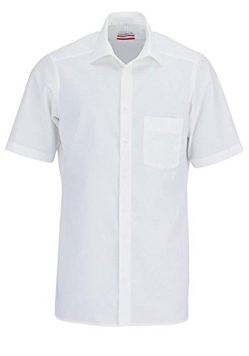 Marvelis Modern fit Hemd met korte mouwen, wit - wit, maat: 41